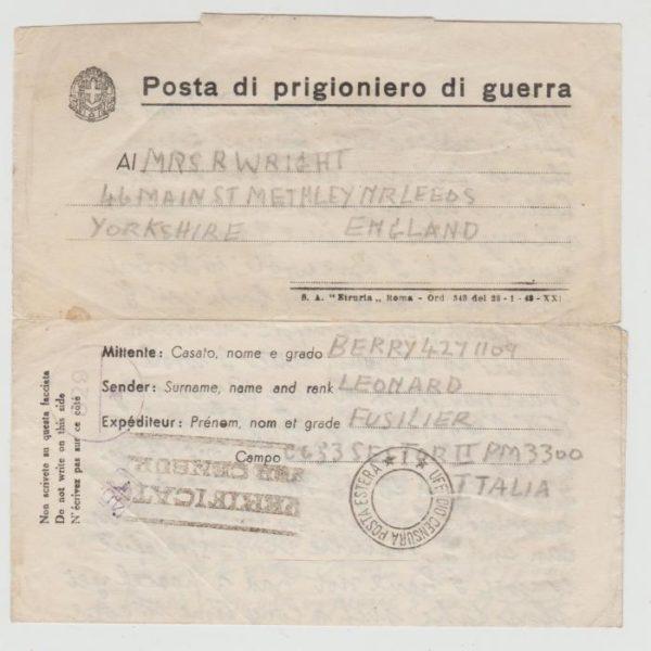 British POW in Italy