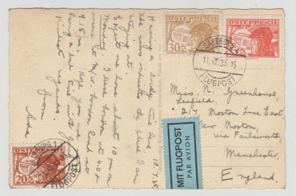 Austria Airmail Postcard