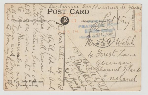 Internee in Holland 1918