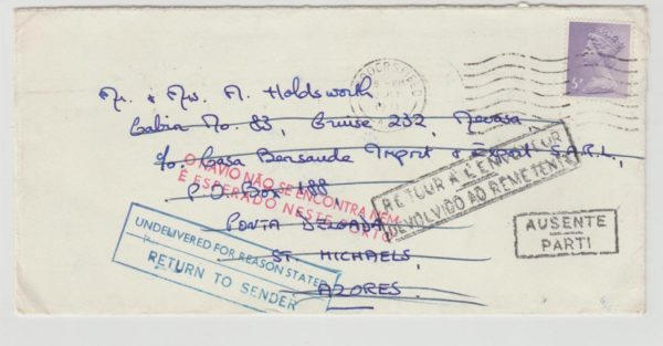 GB to Azores 1971