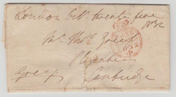 GB Free Frank 1832