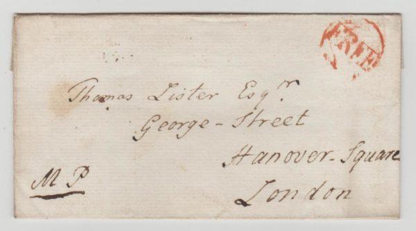 GB Free Frank undated c 1775
