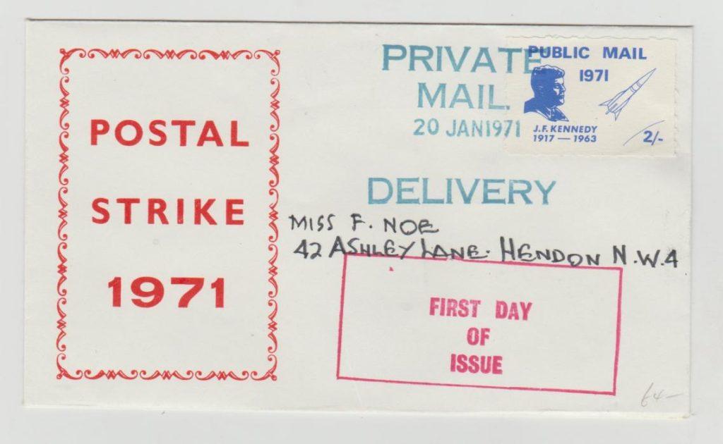 GB Postal Strike January 1971 FDC