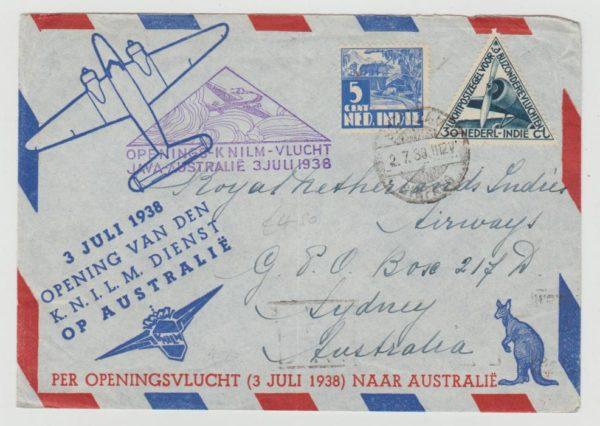 Dutch East Indies First Flight to Australia