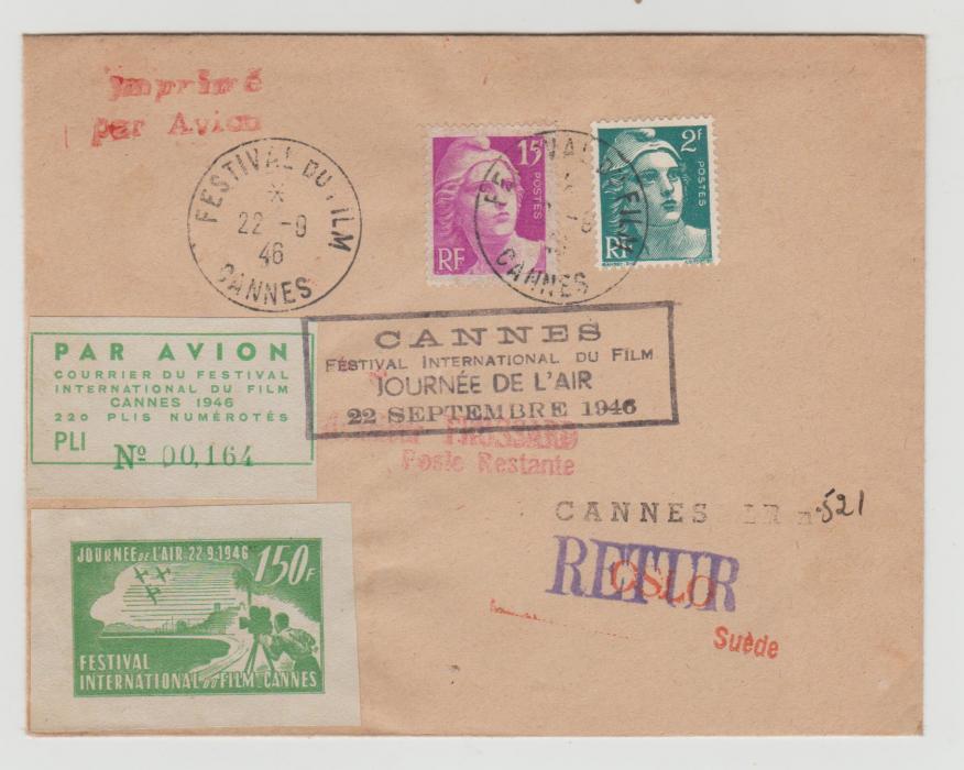 Cannes Film Festival 1946 to Oslo