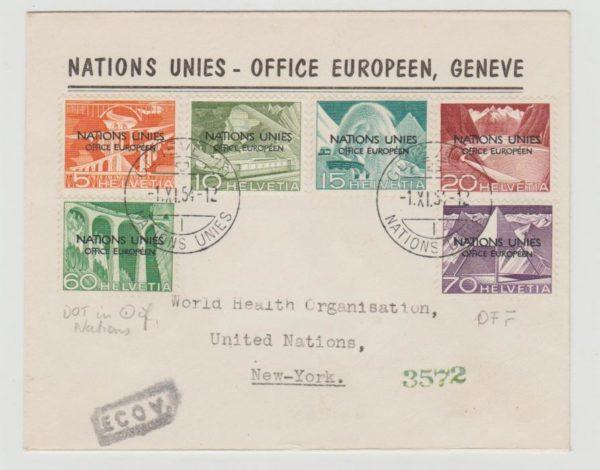 UN Geneva Office 1954