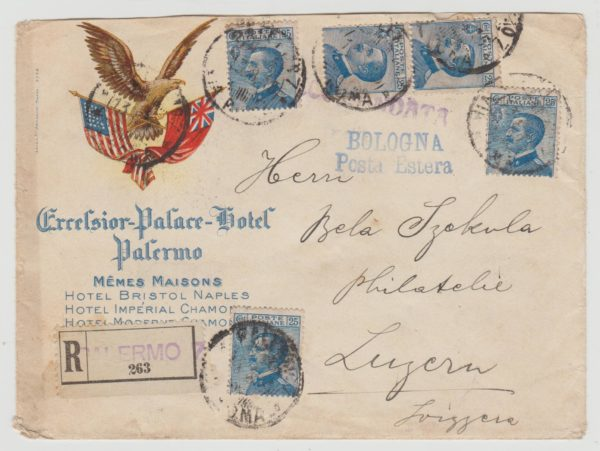 Italy Hotel Envelope 1915