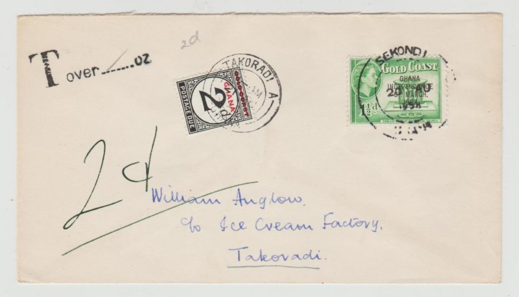Gold Coast/Ghana with Postage Due 1958