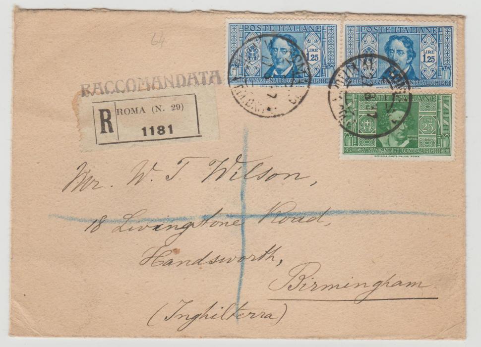 Italy registered letter