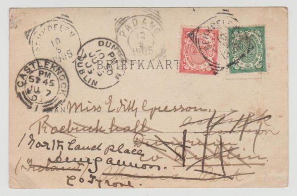 Dutch East Indies to Ireland 1905