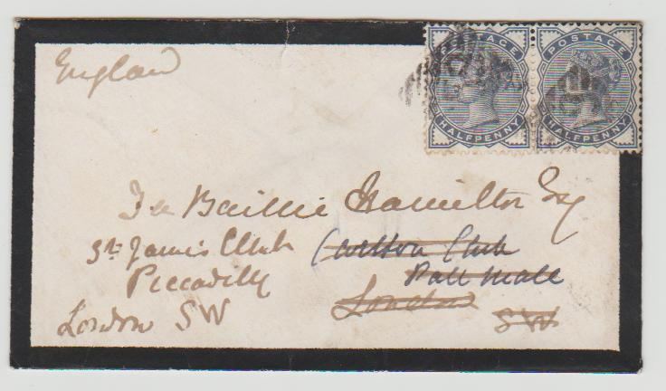 Ireland to London 'Clubland' 1884