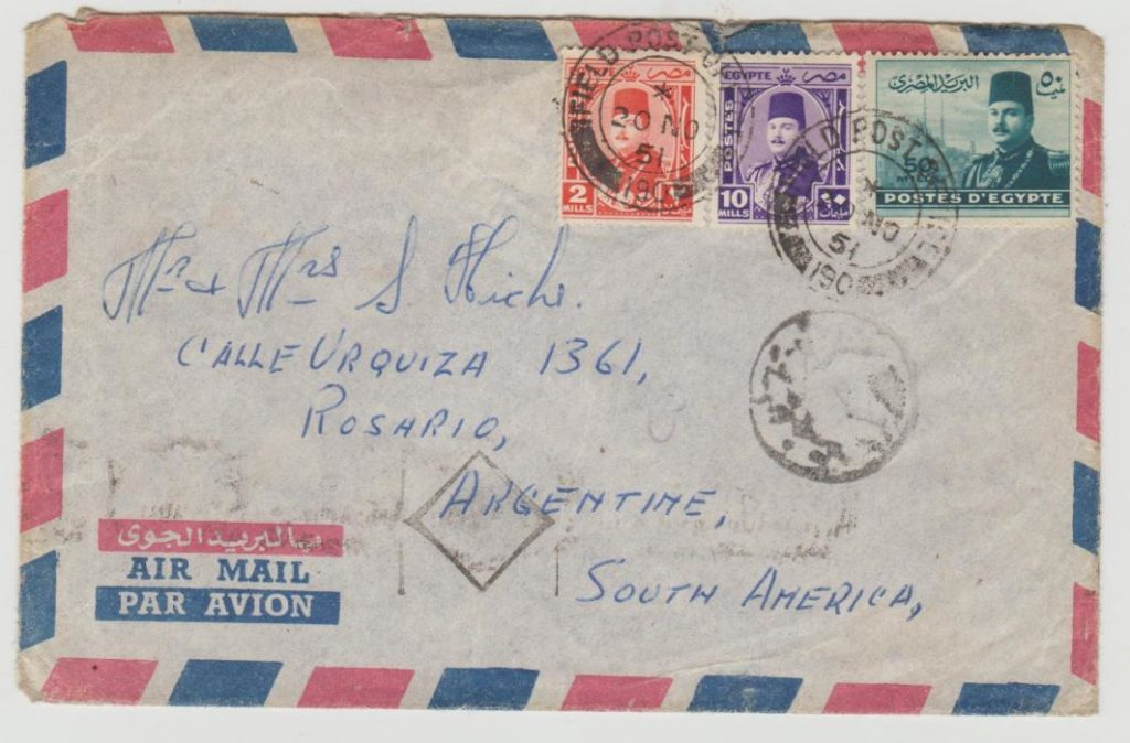 RAF in Egypt FPO 190 to Argentine 1951