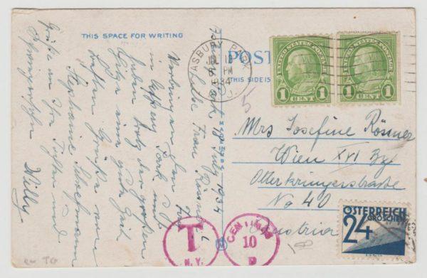 USA postcard to Austria