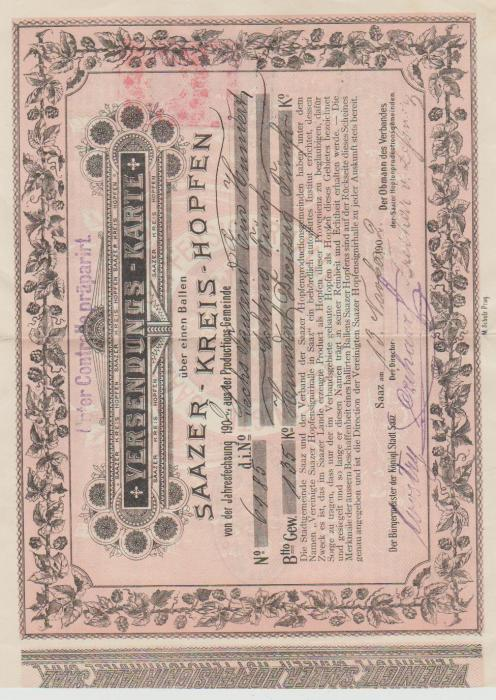 Austrian document with fiscal stamp 1902