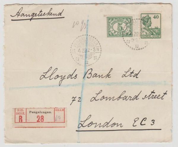 Dutch East Indies Registered 1929