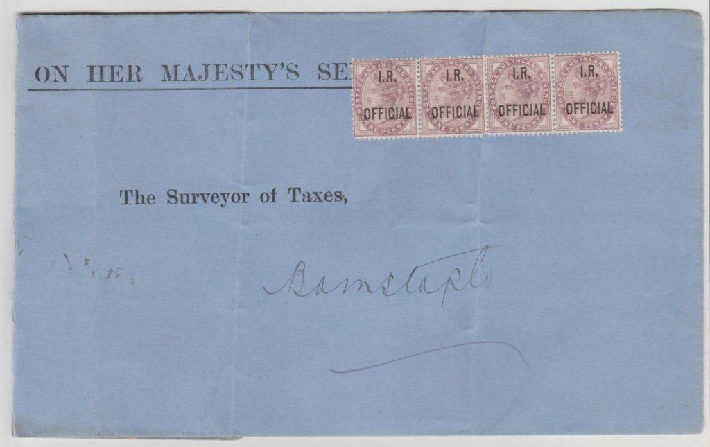 GB OHMS envelope 1902