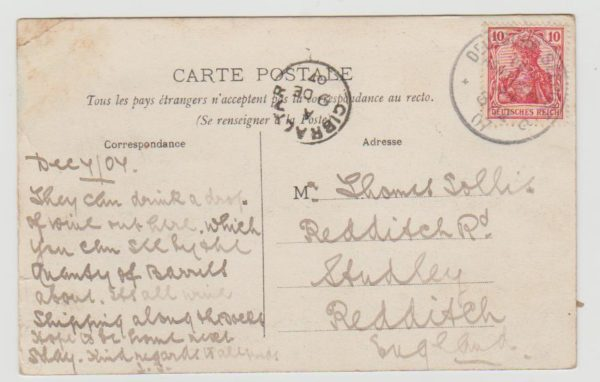 Germany Seepost from North Africa 1907
