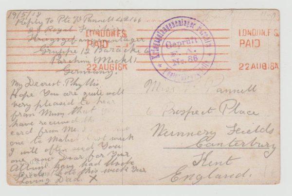 British POW in Germany 1918