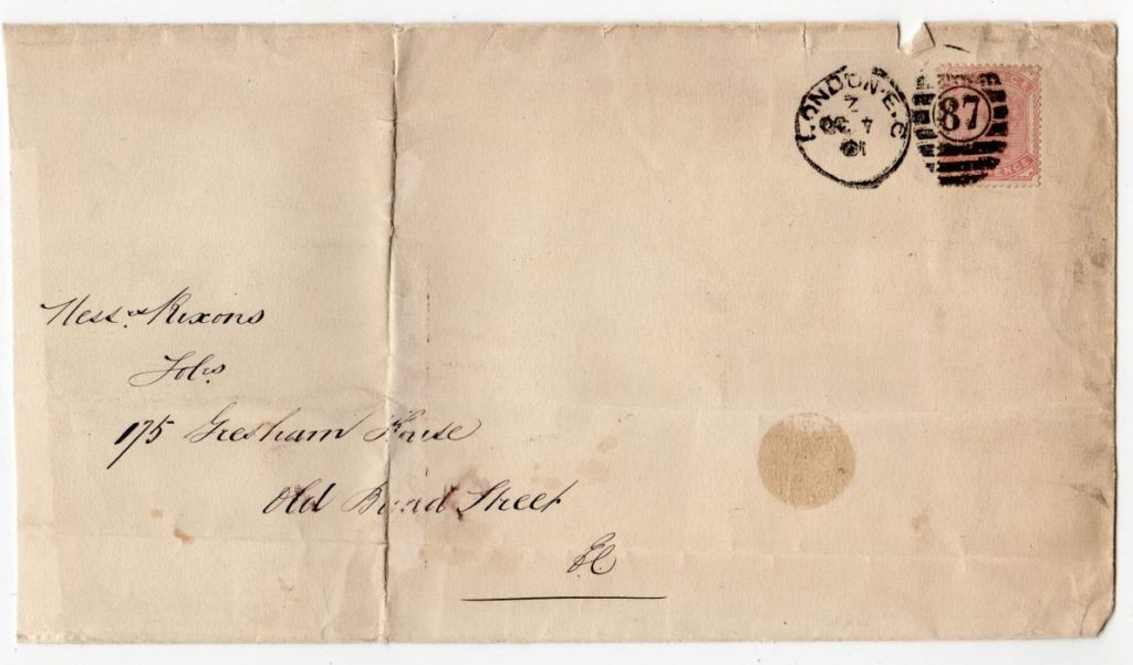 GB - LONDON: 1901 COVER WITH SG 168.