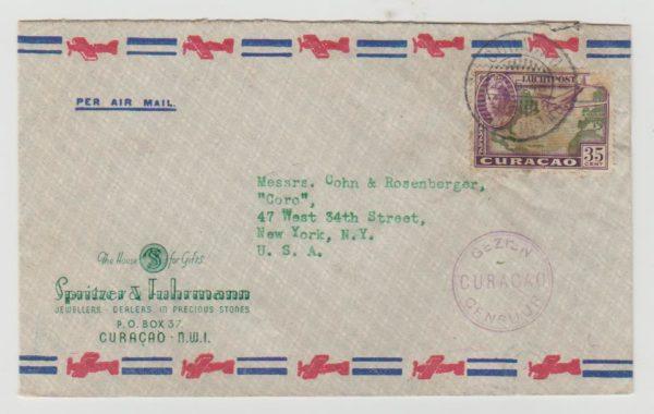 Curacao to USA 1945