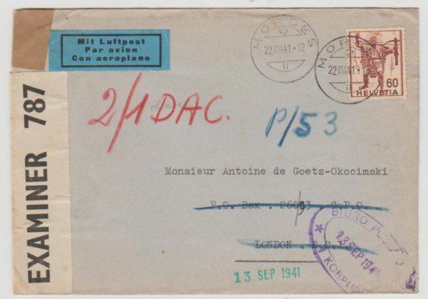 Switzerland to Polish Corps 1941
