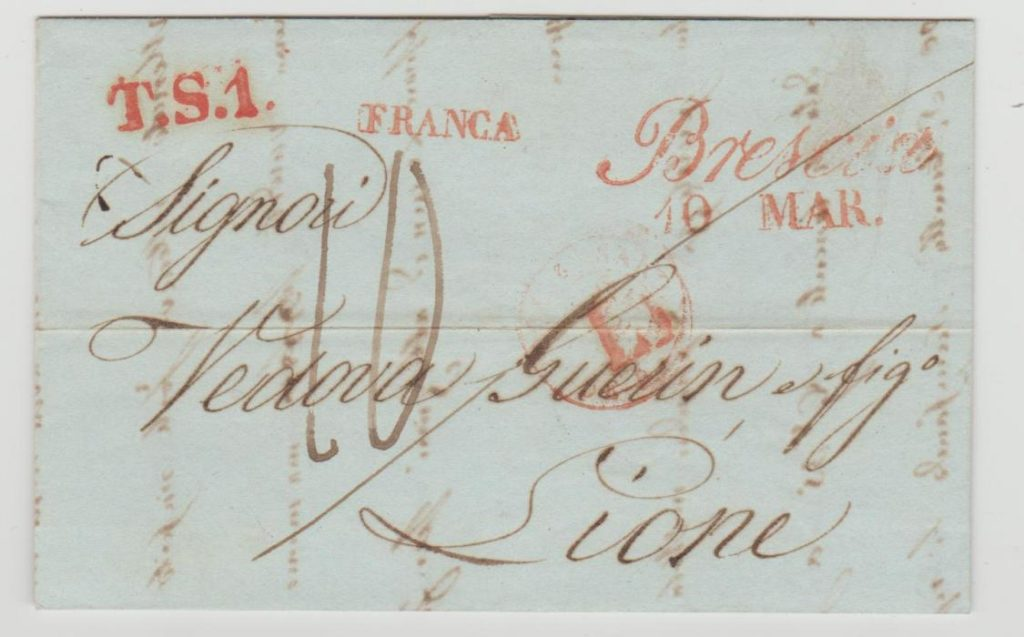 Italy to France 1843