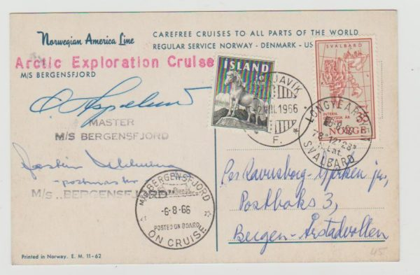 Mixed franking Norway and Iceland 1966