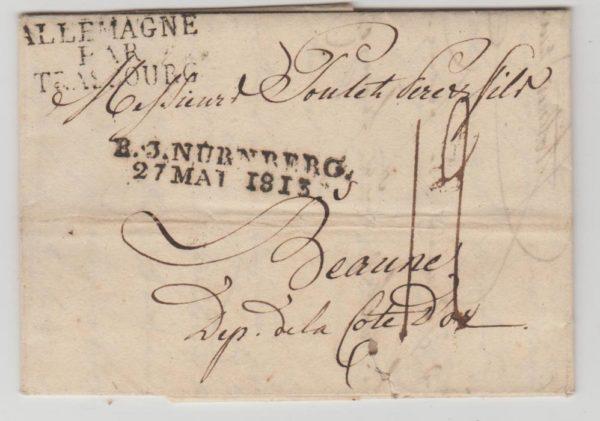 Germany Nuremberg to Beaune 1813