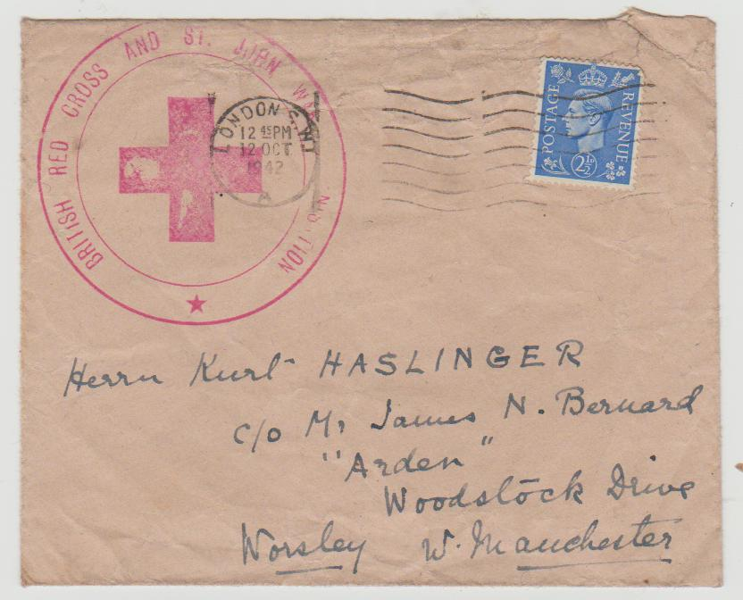 GB KGVI Red Cross 1942