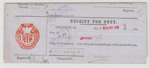 GB Fiscal Duty on Life Insurance 1910