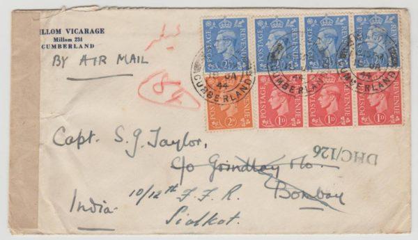 GB to Bombay 1944 censored