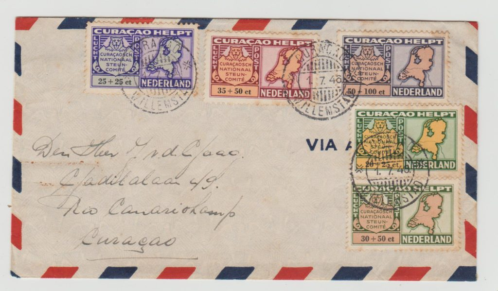 CURACAO RELIEF FUND ISSUE FDC 1946