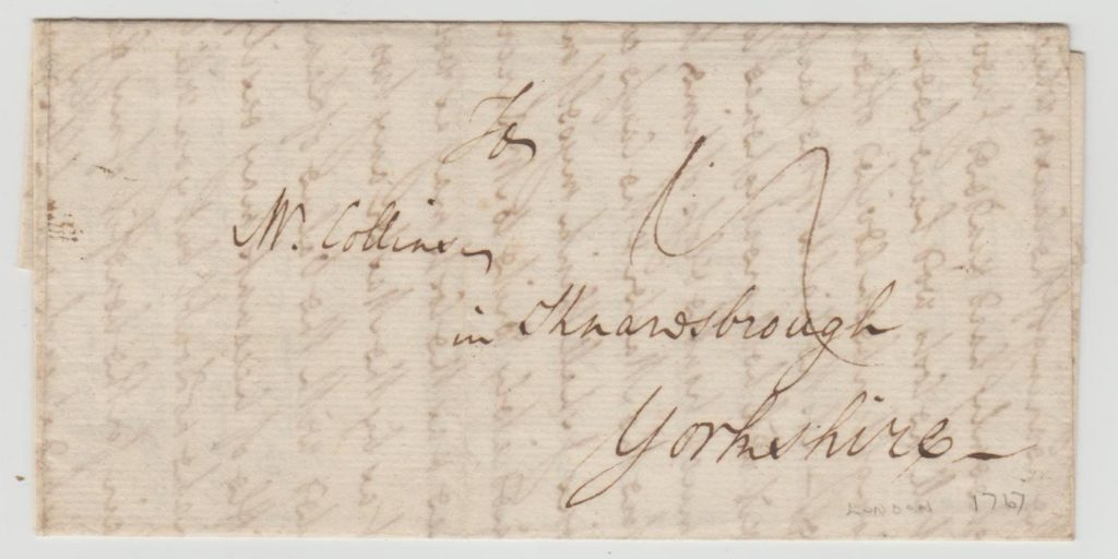 GB ENTIRE FROM LONDON TO KNARESBOROUGH 1767