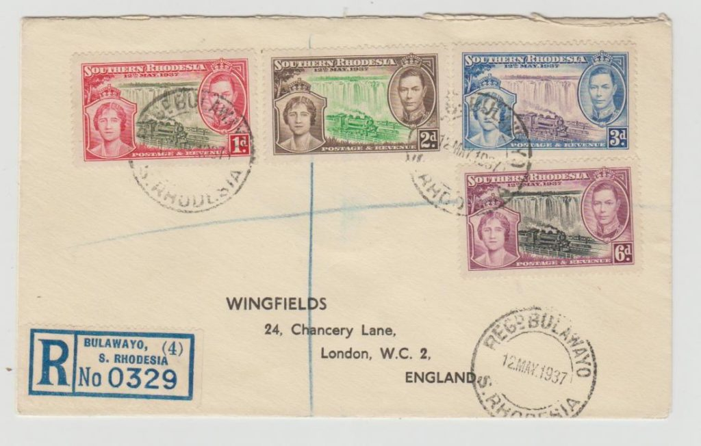 SOUTHERN RHODESIA CORONATION ISSUE 1937 FDC