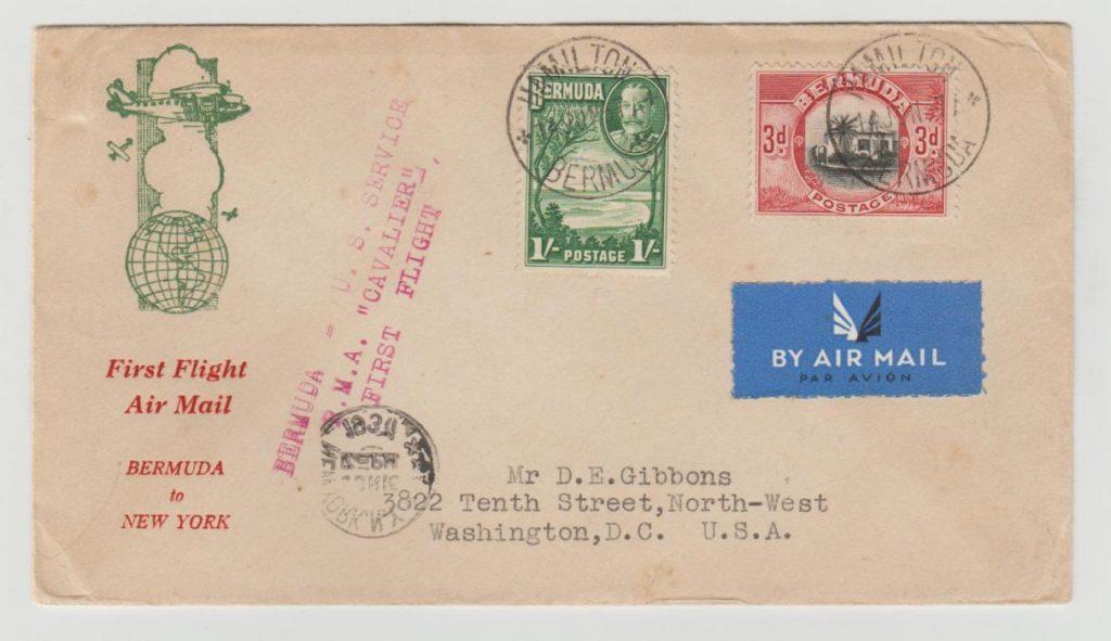 BERMUDA FIRST FLIGHT (FLYING BOAT) 1937