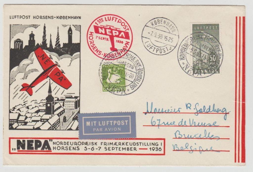 """DENMARK """"NEPA"""" PHILATELIC EXHIBITION 1936"""