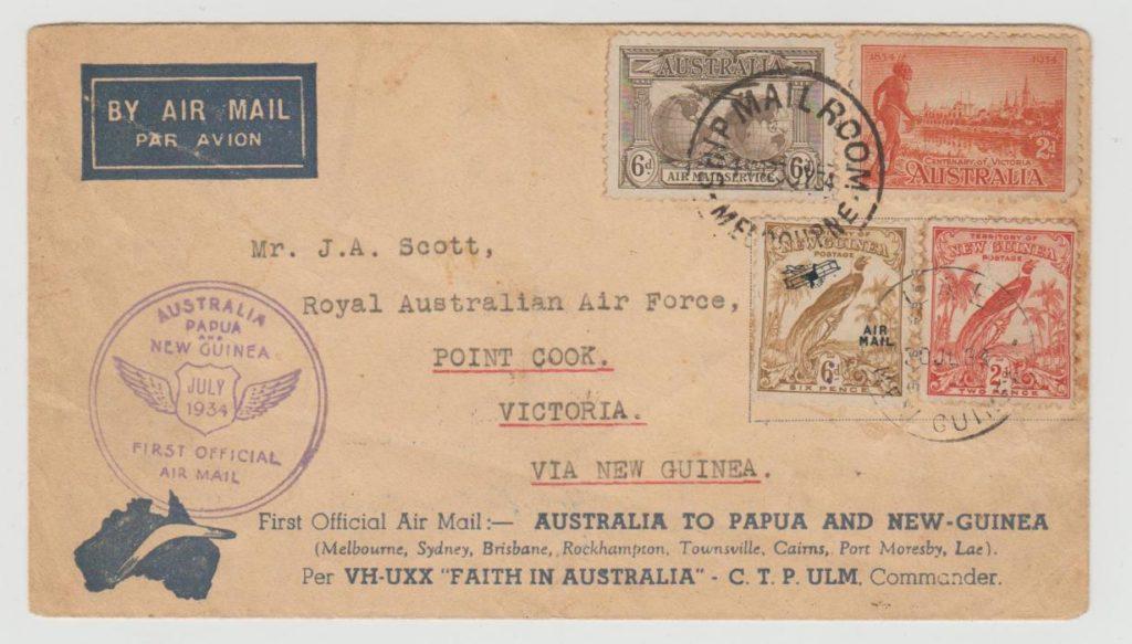 AUSTRALIA - NEW GUINEA AIRMAIL 1934