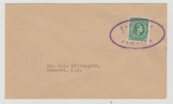 Jamaica Postal Agency Plowden 1950