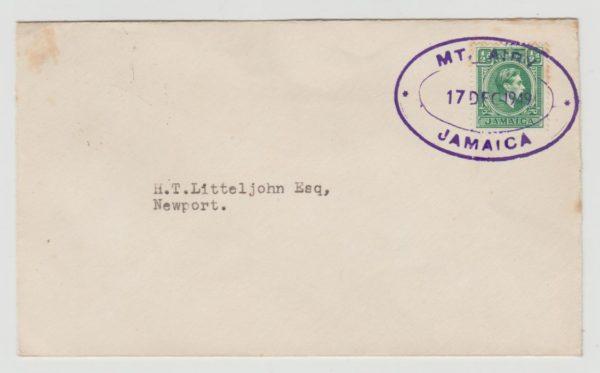 Jamaica Postal Agency Mt. Airy 1949