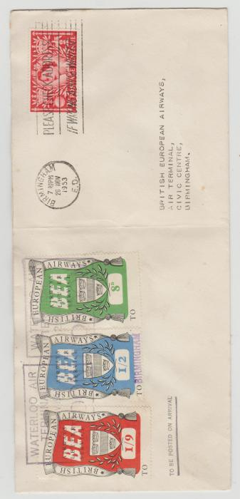 B.E.A Airletter Stamps