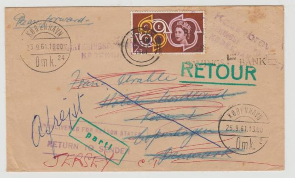 Jersey to Copenhagen 1961 returned