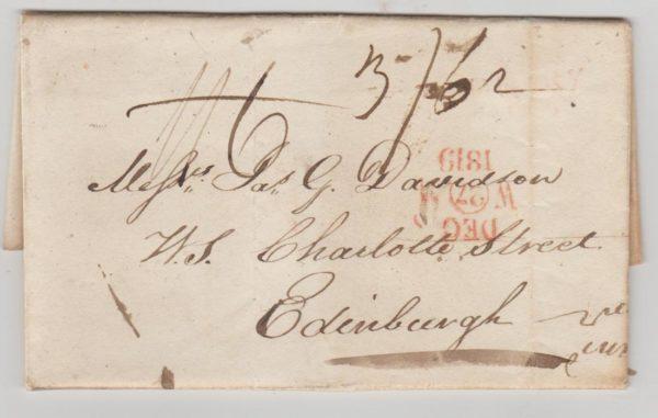 GB uprated letter to Edinburgh 1819
