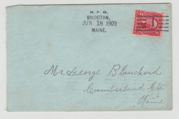 USA rural free delivery 1903