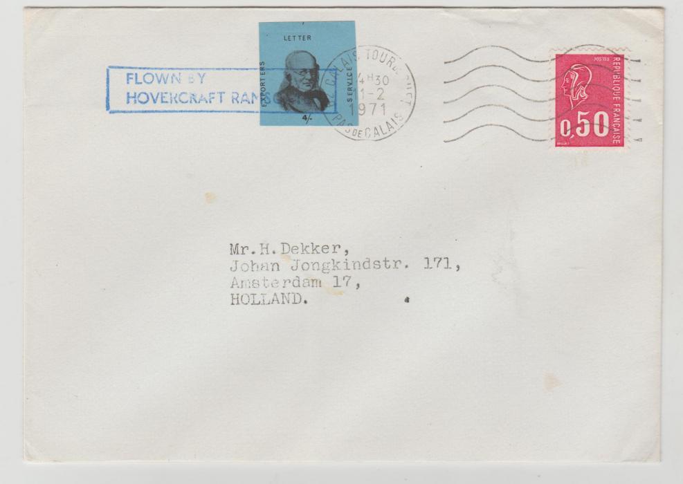 GB 1971 Postal Strike Hovercraft mail