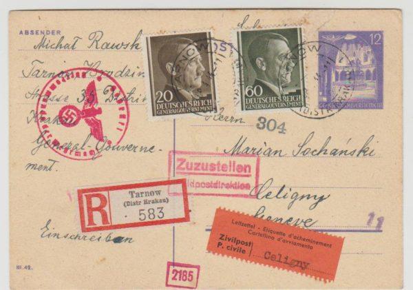 1944 Occupied Poland to Switzerland