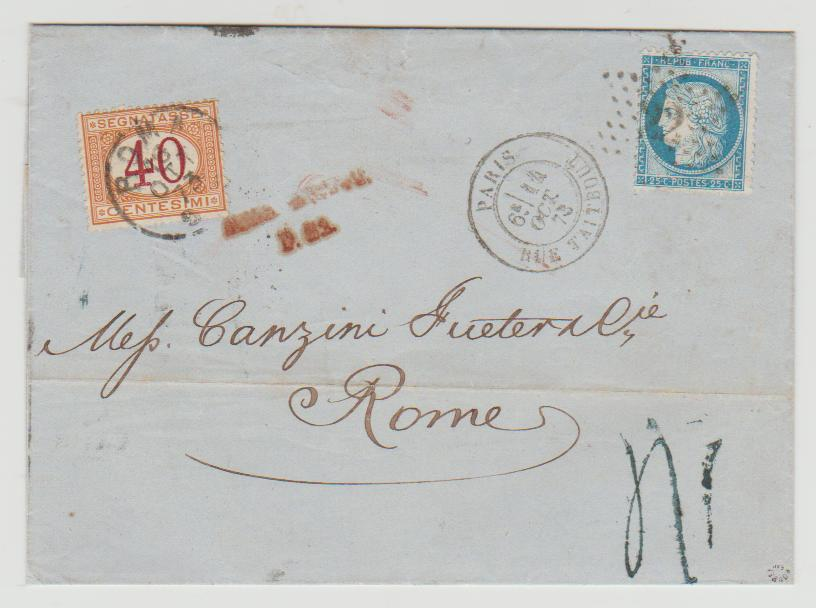 1873 France Grand Cassure and Postage Due