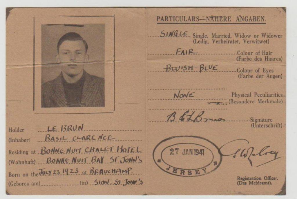 Jersey identity card 1941