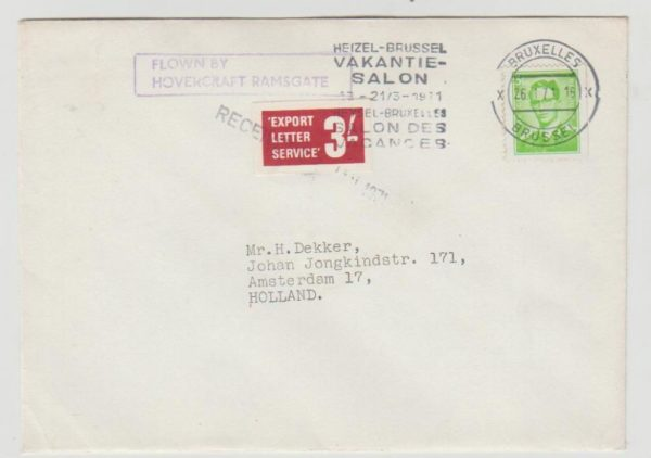 GB 1971 Postal Strike to Holland via Belgium