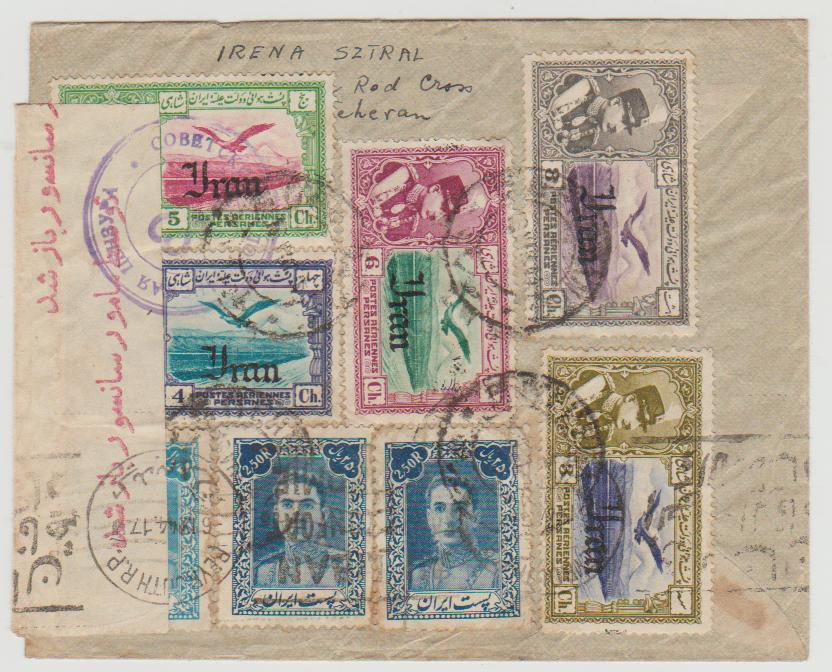 Persia multi-franked cover to Beyrouth