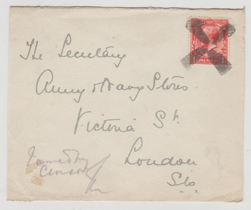GB Naval mail c 1915